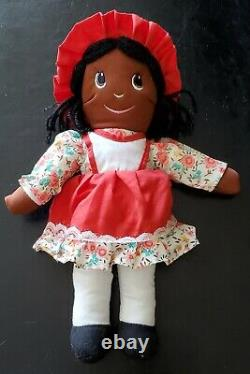 13 Collectible Vintage Ethnic Black African American Girl Rag Doll