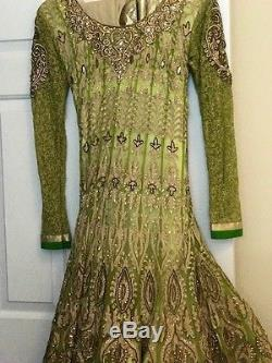 Admirable work Anarkali Gown Compare $499 Wedding Reception Dress Ankle Length