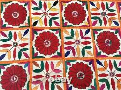 Ancient Beads Ethnic Multi color Hand Made Floral Beautiful Wall Hanging Tapesty
