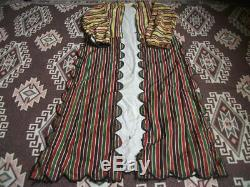 AntiqueTraditional Ethnic Peasant Woman Dress Vintage Folk Costume Lady Clothes
