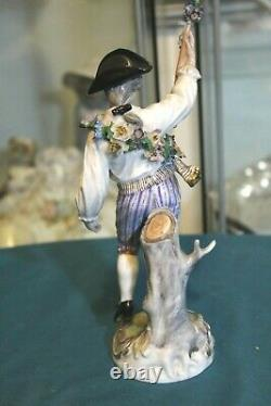 Antique Dressel Kister & co. Porcelain figurine, man in ethnic clothing, Germany