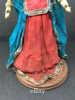 Antique North East Indian Hand Made Detailed Work Ethnic 13'' Cloth Bride Doll
