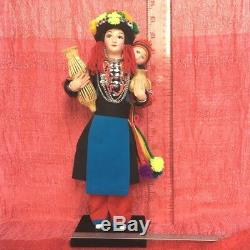 Artisan tribal doll lady figure ethnic collectibles Asian handmade OOAK 12 tall