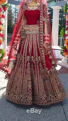 Authentic Manish Maholtra Red Indian Wedding Lengha