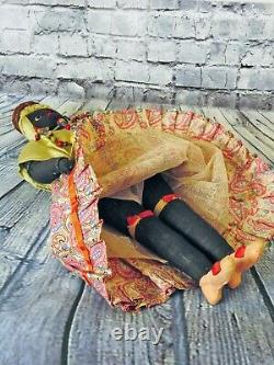 Bahia Brazil Lady 17.5 in. Vintage OOAK 77 Year Old Ethnic Art Doll Quill Nails