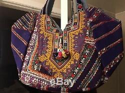 Beautiful Ethnic Large Tote with mirror work Color Purple