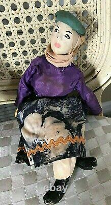 Bedouin Dolls/ Marionettes with Painted Clay Heads/ Ethnic Outfits