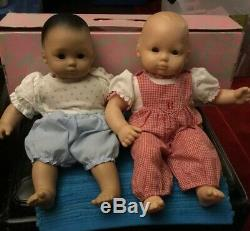 Bitty Babies 25/30 Yrs Old. 1 Ethnic 1 Caucasian. With Clothes. 16