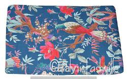 By Yard Indian Cotton Running Loose Craft Sewing New Ethnic Bird Printed Fabric