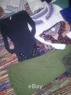 Clothes waffle button cuffs Free People mixed lot m medium L large tops shirts