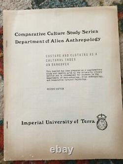 Costume & Clothing as a Cultural Index on Darkover 1977