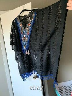 Designer Embroidered Caftan Lace Tunic Swimwear cover up dress Ethnic Clothing