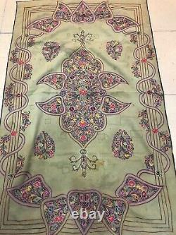 Embroidery Table Clothes, Handmade Suzani Table Cover, Vintage Unique Textiles