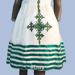 Eritrean, Ethiopian Dress, Traditional Habesha Clothes, 100% cotton, embroidered