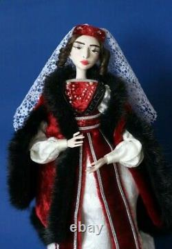 Ethnic COLLECTIBLE personalized ooak doll GEORGIAN Princess 15.3'' for interior