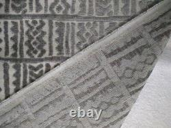 Ethnic Chic African Inspired Mud Cloth Cut Velvet Upholstery Fabric 5yards Grey