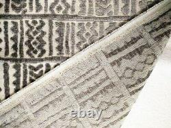 Ethnic Chic African Inspired Mud Cloth Cut Velvet Upholstery Fabric Bty Grey