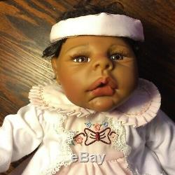 Ethnic Realistic Baby Girl Doll Reborn Unbranded Cloth African American Black