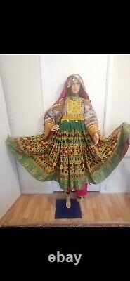 Ethnic Vintage AFGHANI KUCHI CLOTHES 60S AND 70S HAND EMBROIDERED CLOTHES