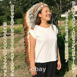 Fes Event Halloween Native Indian Long Hat Costume Cosplay Clothing Ethnic