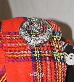 Full Dress Piper Outfit 24 PC's Men's Pipe Band Outfit Scottish Outfit Free P&P