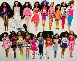 HUGE 19 LOT African American/Ethnic Barbie Dolls Great Clothes, Gorgeous Hair