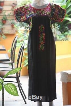 Hand Made Mexican Huipil Embroidered And Woven San Antonino Oaxaca
