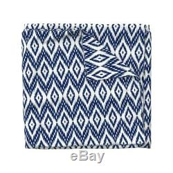 Ikat Diamonds Chevron Geometric Indian Ethnic Sateen Duvet Cover by Roostery