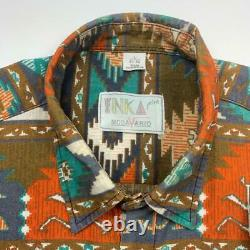 Inca Print Ethnic Native Pattern Long-Sleeved Shirt Total Old Clothes Vintage