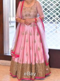 Indian Pakistani Bridal Dress Pink Pure Silk (Org. Price $3,000) Wore once