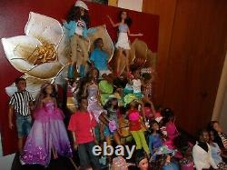 LOT 30 AFRICAN AMER/ETHNIC BARBIE/KEN DOLLS HAPPYFAMILY ALAN ALL WithCLOTHES/SHOES
