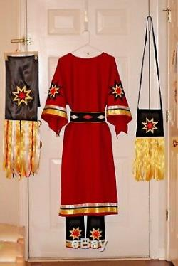 Ladies Traditional Ribbon Dress, complete outfit, pow wow regalia S to 3X