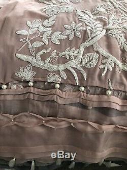 Light Grey Nida Azwer Embroidered Luxury 2-PC Outfit Size S/M