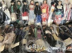 Lot Of 50 Ethnic Cultural Handmade Cloth Vintage Dolls 1930s Depression Era