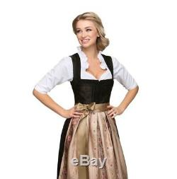 New Beautiful Midi Dirndl Klara with shimmering apron Stockerpoint 2 piece