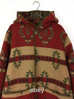 Old Clothes Women Jacket Woolrich Wool Rich Ethnic Whole Pattern Reversible