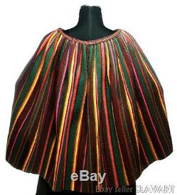 POLISH FOLK COSTUME woven wool cape traditional clothing POLAND ethnic tribal