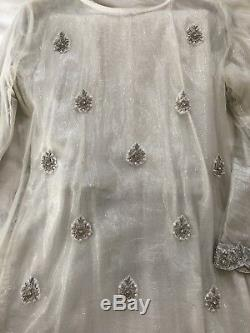 Pakistani Shalwar Kameez Party Wear Formal White Dress