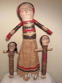 Rare Antique Hindu Tribal Hand Made Ethnic Cloth DOLLS Folk Art Primitive Mammy