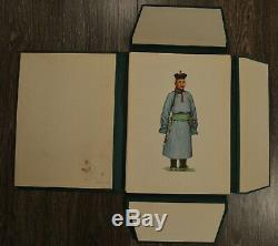 Rare Mongolian Folk Costumes Posters Book Ethnic Clothing Textile Asia Art 100