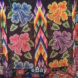 Rare Vintage Guatemalan Huipil Quilt, pieced from Vintage Blouses, fits King Bed