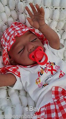 Reborn Baby Bi Racial Ethnic Baylee Doll / Sunbeambabies Outfit Will Vary