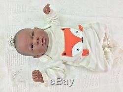 Reborn Doll Berenguer Preemie Ethnic A/A Jointed Cloth Body Full Limbs Rooted
