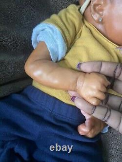 Reborn baby ethnic preemie neborn biracial twin a by bb with coa and belly cute