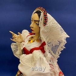 SPANISH Lady OOAK poseable ethnic custom collectible cultural DOLL 17.3'