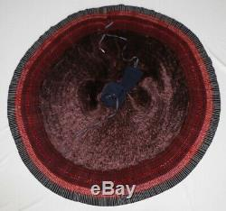 Tribal chinese ethnic miao people' old hand embroidery local cloth pleated skirt