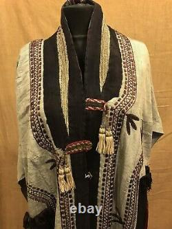 Uzbek headwear costume clothes, overall clothing, ethnic tribal clothes