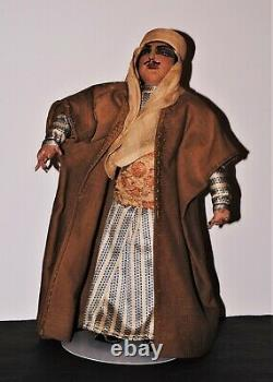 VINTAGE 12 SYRIAN Cloth Ethnic MALE Doll Mrkd Baronne Belling Kimport Type NICE