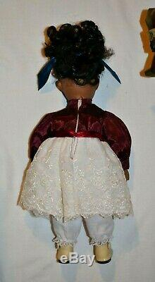 VINTAGE Ethnic DOLL Clothes & HOUSE TRUNK, Pull down bed Vanity withMirror & Stool