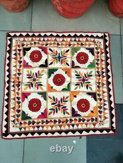 Vintage Indian Home Decor Embroidery Patch Work Ethnic Wall Tapestry Hanging